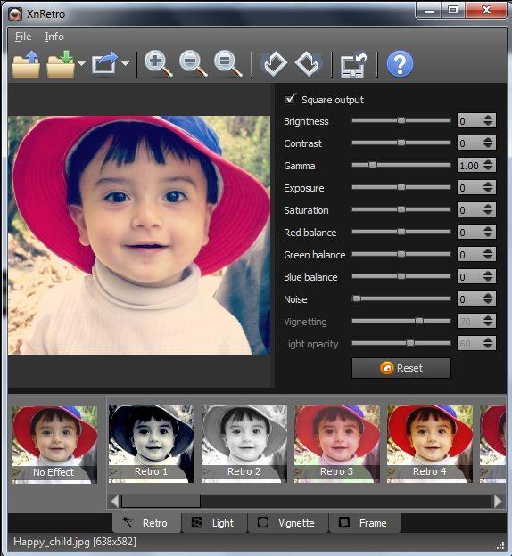 add retro filter to photo