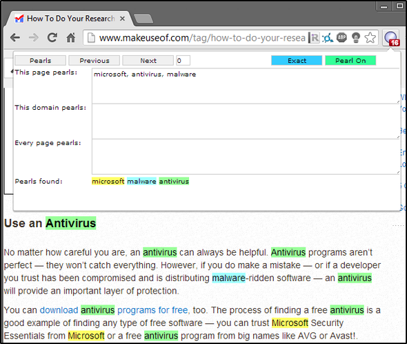 search multiple words chrome