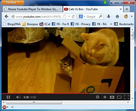 resize youtube player
