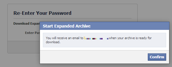 Start Expanded Facebook Archive