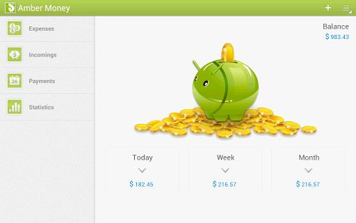 manage personal finances android