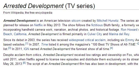 Keeping Up With The Bluth Family: Discover Arrested Development On The Web arrested development wikipedia