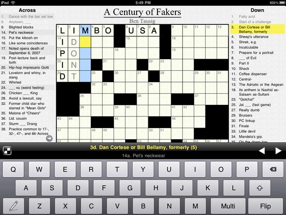 Ipad Crossword App Free