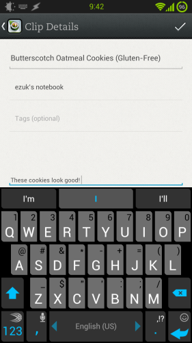 evernote food app