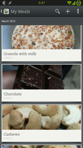 evernote food for android