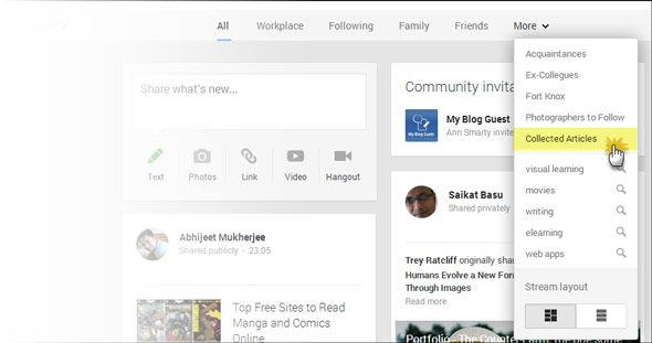 Stretching A Circle: 5 Ways To Use Google+ Circles For Personal Productivity google plus circle02