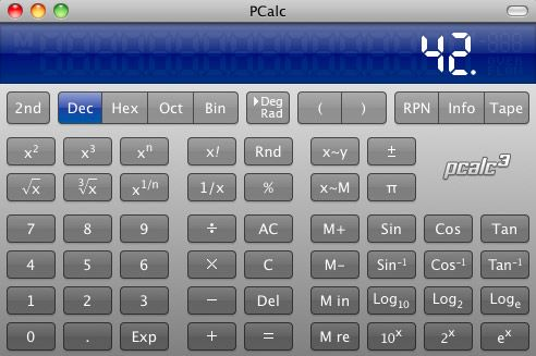 calculator in mac os