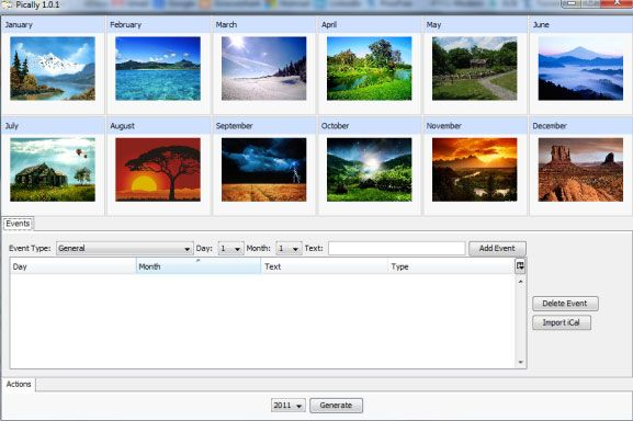 make your own photo calendars