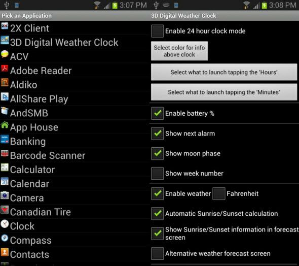 android weather widget