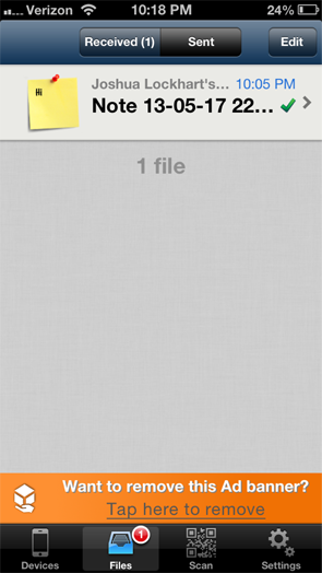 share files from iphone