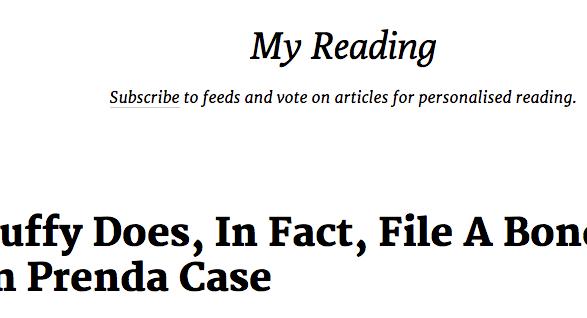 minimalistic rss reader