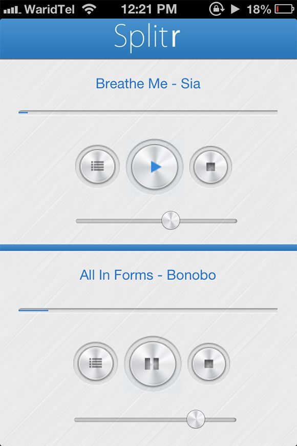 iphone app play two songs