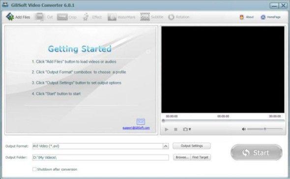 Gilisoft Video Converter: Convert All Kinds Of Video Formats [Windows] (Free Licences) vc shot e1368206307500