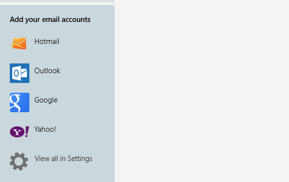 Add Email Accounts to Windows 8 Mail App