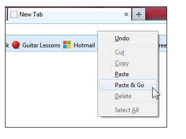 Paste and Go Hotkey: Get a Hotkey Shortcut In Firefox For The 'Paste & Go' Feature Newtab