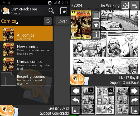 read comics on android