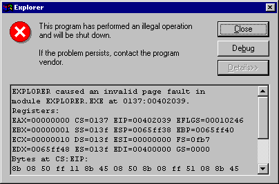 windows 98 bugs