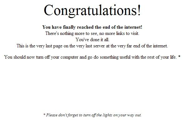 last page on the internet