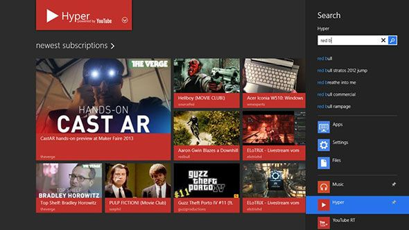 Hyper for YouTube: Download & Watch YouTube Videos From Windows 8's Modern UI hyper1