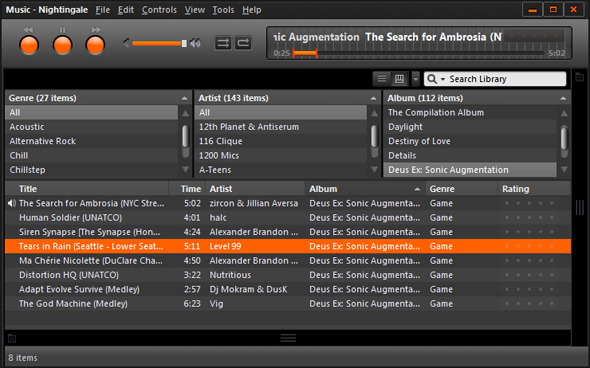songbird music player