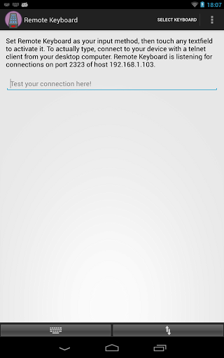Use WiFi Keyboard Android