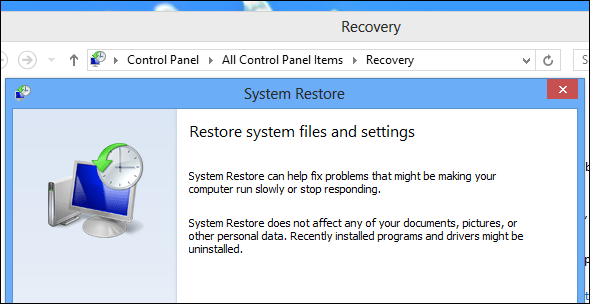 Reinstalling windows system restore microsoft round table support