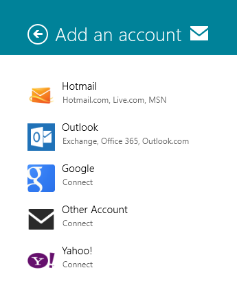Add An Account To Windows 8 Mail