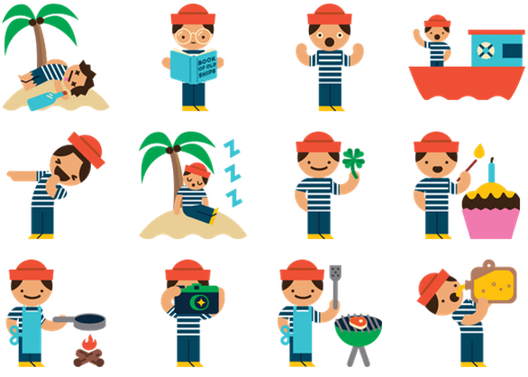 Facebook Chat Stickers: What Are They & Should You Use Them? [Weekly Facebook Tips] Facebook Pirate Stickers