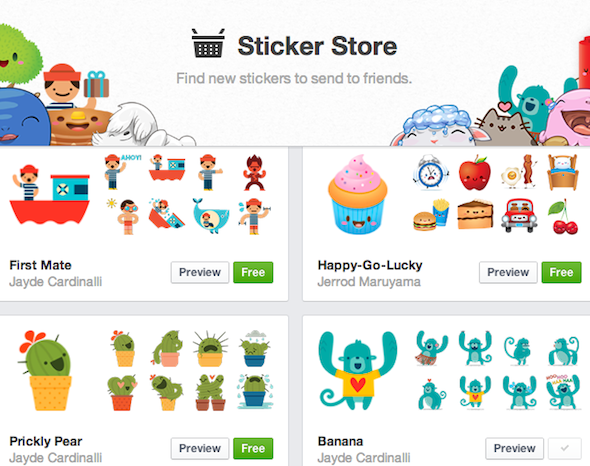 Facebook Chat Stickers: What Are They & Should You Use Them? [Weekly Facebook Tips] Facebook Sticker Store