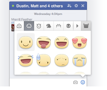 Facebook Chat Stickers: What Are They & Should You Use Them? [Weekly Facebook Tips] Facebook Stickers Choice