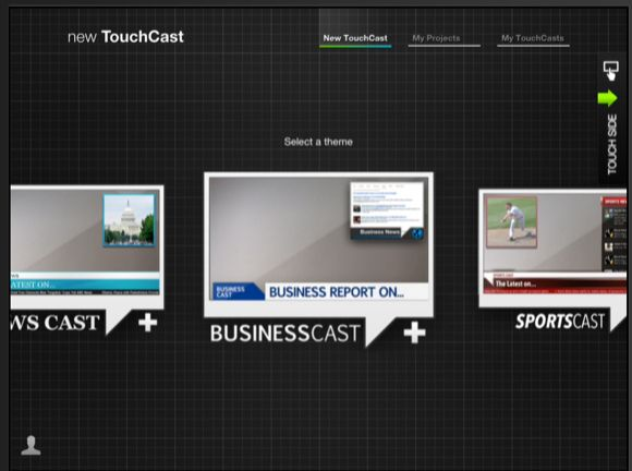 TouchCast themes