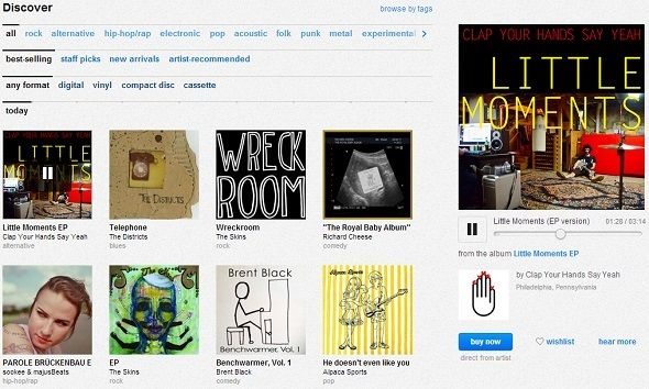 Give Your Ears A Treat: 5 Alternative Ways To Discover New Music Online bandcamp homepage