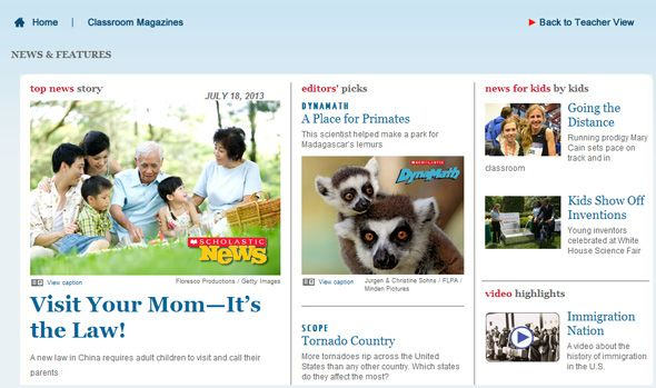 Child Safe News Websites