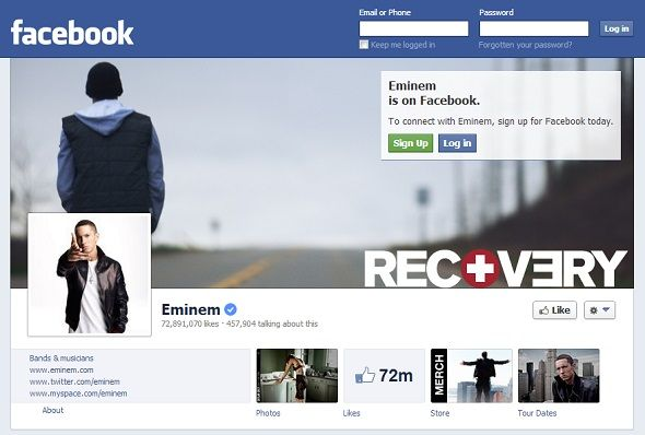 We Like You: 8 Musicians With The Most Popular Pages On Facebook facebook eminem