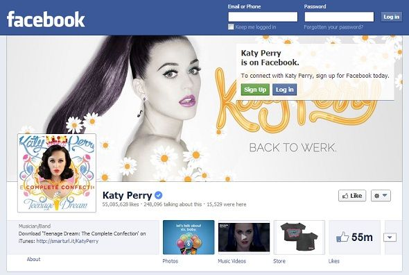 We Like You: 8 Musicians With The Most Popular Pages On Facebook facebook katy perry