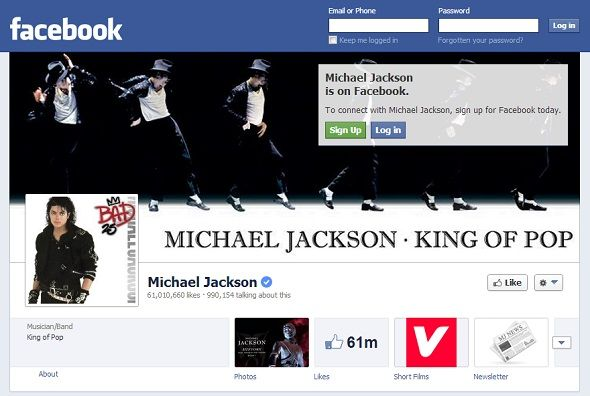 We Like You: 8 Musicians With The Most Popular Pages On Facebook facebook michael jackson