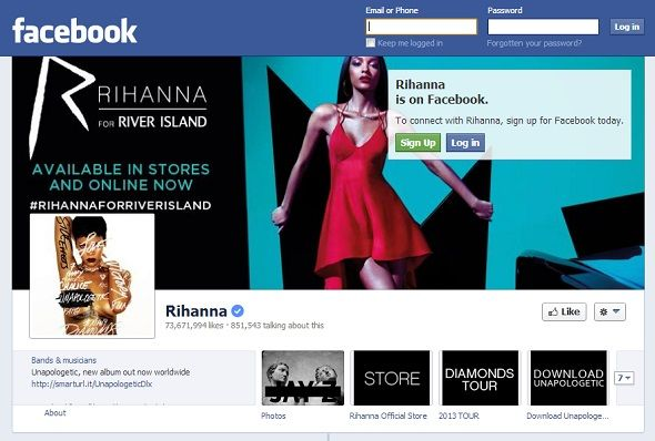 We Like You: 8 Musicians With The Most Popular Pages On Facebook facebook rihanna