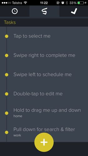Free App Swipes Simplifies Your Daily Schedule With Gestures & Tags gestures