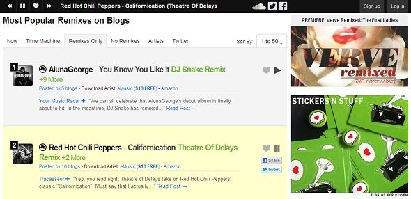 Give Your Ears A Treat: 5 Alternative Ways To Discover New Music Online hypemachine homepage