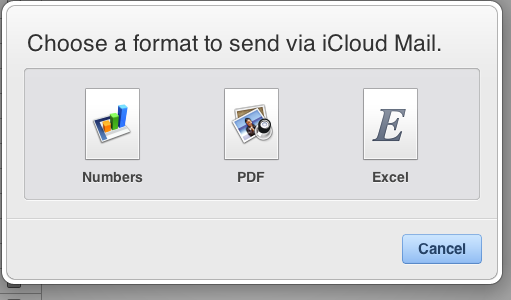 IWork for iCloud share