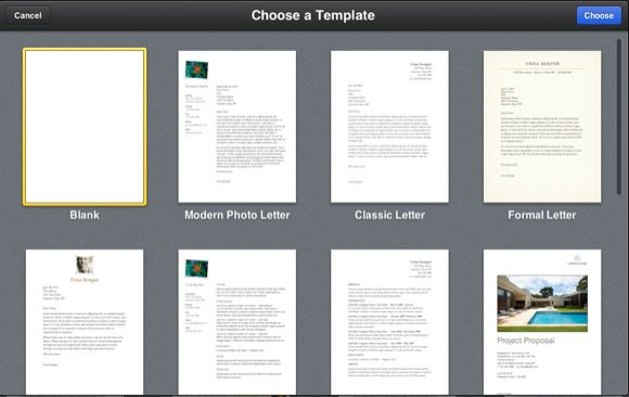 IWork for iCloud templates