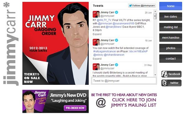 5 Ways To Contact Celebs Without Facebook Charging You jimmy carr official
