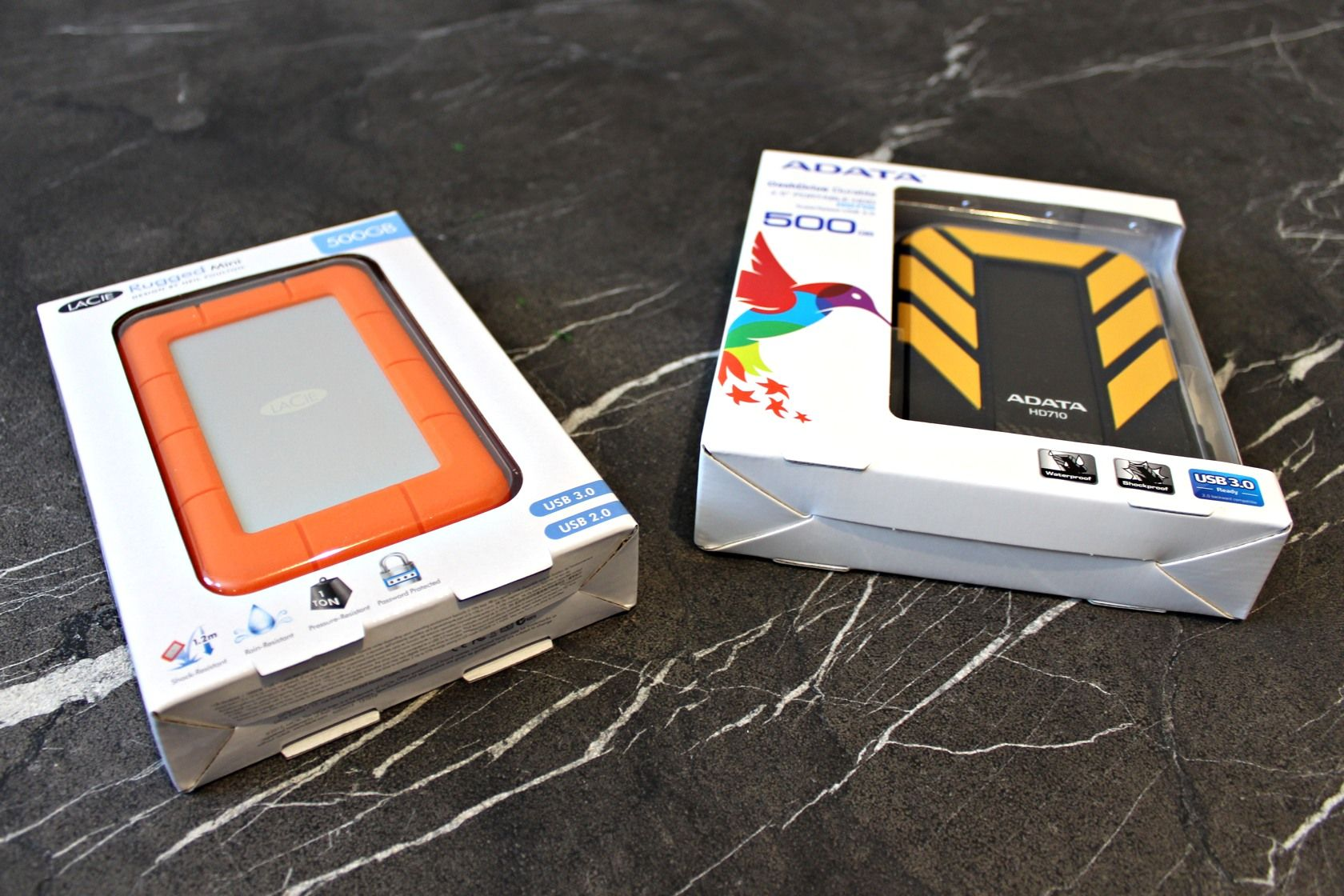 Lacie Rugged Mini Vs Adata Dashdrive Durable A