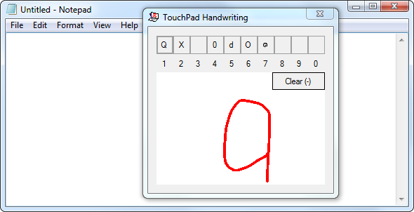 touchpad-handwriting-app