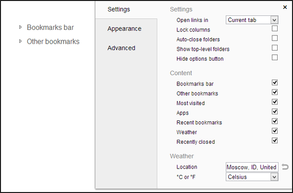 4 Great Apps And Extensions To Renovate Chrome's New Tab Page 3 Humble New Tab Settings