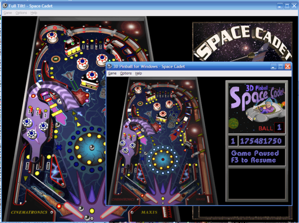 4 of the Best Pinball Video Games of All Time 800px Space Cadet Pinball Visual Comparison of Full Tilt and Windows XP versions e1376541266256