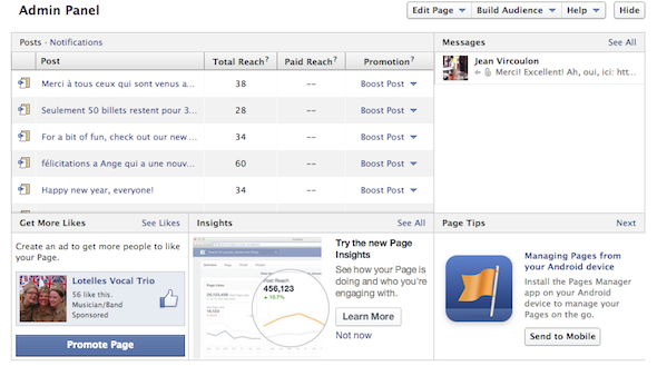 How To Prove To Your Boss That Your Facebook Page Is Worth It [Weekly Facebook Tips] Facebook Page Admin Panel