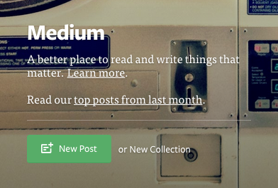Medium - New Post