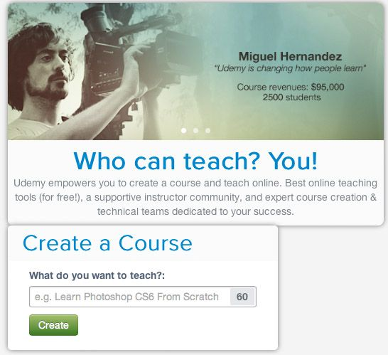 Udemy course creation