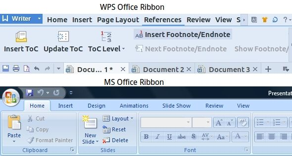 WPS-Office-References-Tabs-Writer-MS-Office-Ribbon-Comparison